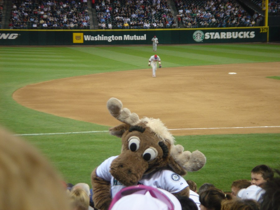 Mariner Moose at Phillies game