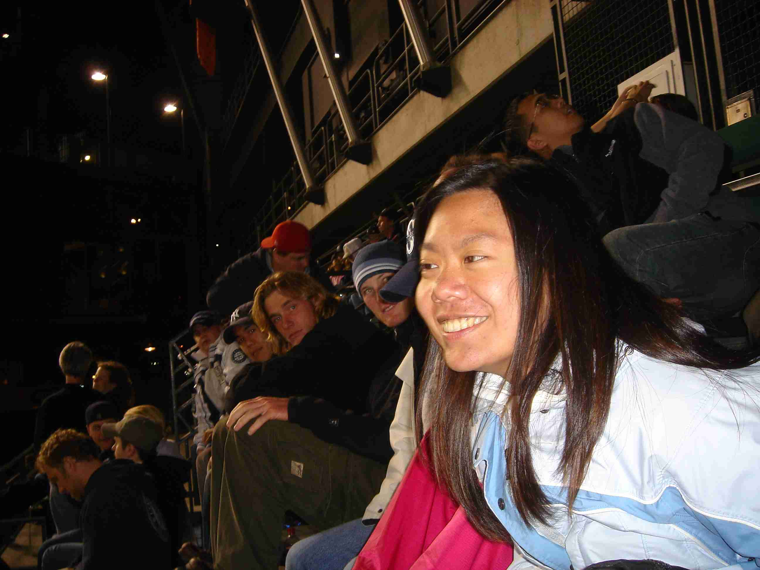 Tina at the ballgame